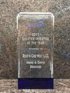 about us roof-a-cide west 2017 award